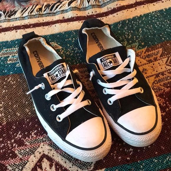 077dd1b8f11d Black converse slip ones w  elastic back. M 5b3eae2904e33dbd78a253a4. Other  Shoes you may like
